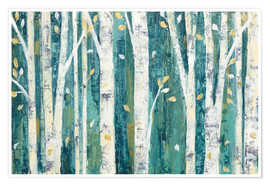 Poster Premium Birches in Spring