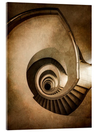 Vetro acrilico  Spiral staircase in brown colors - Jaroslaw Blaminsky