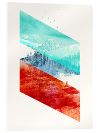 Stampa su vetro acrilico  Mountain Stripes - Robert Farkas