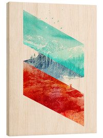 Stampa su legno  Mountain Stripes - Robert Farkas