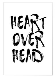 Poster Premium heart over head