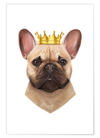 Poster Premium Re Bulldog francese