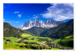 Poster Premium Summer in south Tyrol