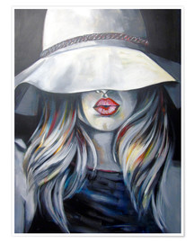 Poster Premium Woman with hat