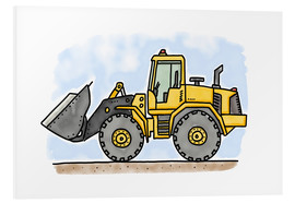 Stampa su schiuma dura  Hugos wheel loader - Hugos Illustrations