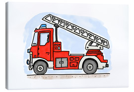 Tela  Hugos fire department cart - Hugos Illustrations