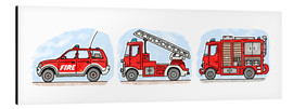 Stampa su alluminio  Hugos fire department set - Hugos Illustrations