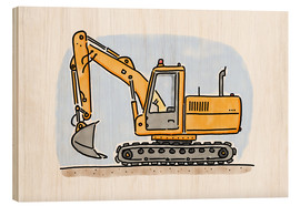 Legno  Hugos digger - Hugos Illustrations
