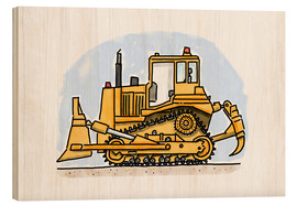 Legno  Hugos bulldozer - Hugos Illustrations