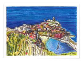 Poster Premium  View to Vernazza - Hartmut Buse