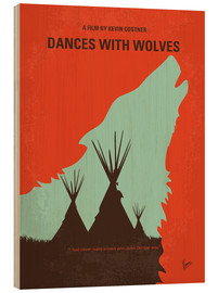 Stampa su legno  No949 My Dances with Wolves minimal movie poster - chungkong