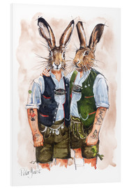 Stampa su PVC  Gay Rabbits - Peter Guest