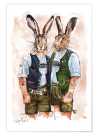 Poster Premium  Gay Rabbits - Peter Guest