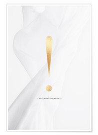 Poster Premium EXCLAMATION MARK GOLD LETTER COLLECTION