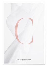 Poster Premium ROSE GOLD LETTER COLLECTION C