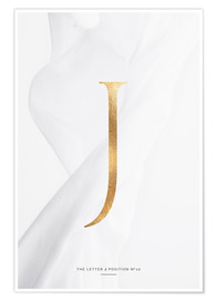 Poster Premium  GOLD LETTER COLLECTION J - Stephanie Wünsche