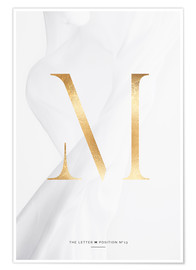 Poster Premium  GOLD LETTER COLLECTION M - Stephanie Wünsche