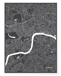 Poster Premium London England Map