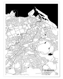 Poster Premium  Edinburgh Scotland Map - Main Street Maps