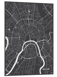 Forex  Moscow Russia Map - Main Street Maps