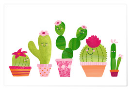 Poster Premium Cactuses in the pot