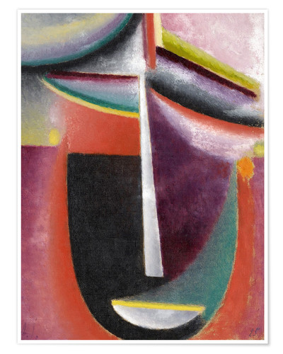 Poster Premium jawlensky abstract head mysterium