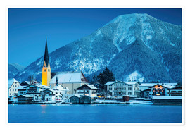 Poster  Germany, Bavaria, Tegernsee, Alps. View from Rottach-Egern - Mikolaj Gospodarek