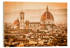 Legno  Cityscape with Cathedral and Brunelleschi Dome, Florence - Cubo Images
