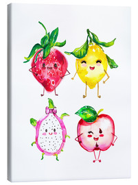 Stampa su tela  Naughty fruits - Ikon Images