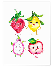 Poster Premium Naughty fruits