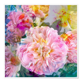 Poster Premium layer work from flowers
