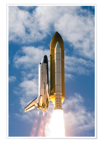 Poster Premium Space Shuttle Atlantis