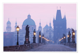Poster  Charles Bridge at dawn - age fotostock