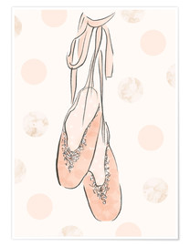 Poster Premium  Ballet shoes on the wall