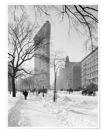 Poster Flatiron Building After Snow Storm, New York City, USA, circa 1905
