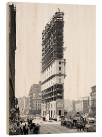 Legno  Times Building under Construction, 42nd Street, New York City, USA, circa 1904 - Glasshouse
