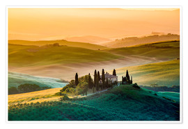 Poster Premium Val d'Orcia, Tuscany, Italy
