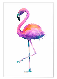 Poster  Flamingo 2 PL - Miss Coopers Lounge