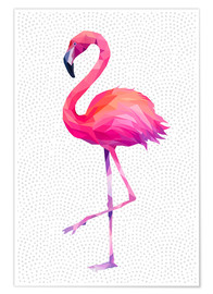 Poster  Flamingo 1 PL - Miss Coopers Lounge