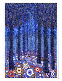 Poster Premium Blue Forest