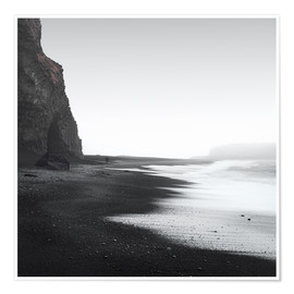 Poster Premium  Black beach in Iceland - Philipp Dase