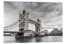 Stampa su vetro acrilico  Tower Bridge Colour Pop