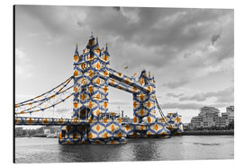 Alluminio Dibond  Tower Bridge Colour Pop