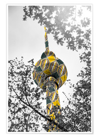 Poster  TV tower Colour Pop