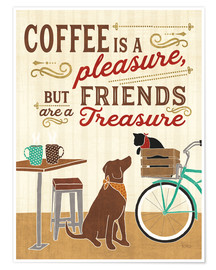 Poster Premium  Coffee and Friends II - Veronique Charron