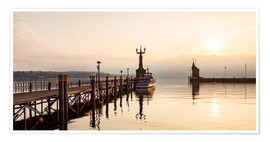 Poster Premium  Morning mood in Constance on Lake Constance - Dieterich Fotografie