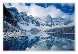 Poster Premium Moraine lake in Canada