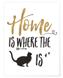 Poster Premium  Home is where the cat is - Veronique Charron