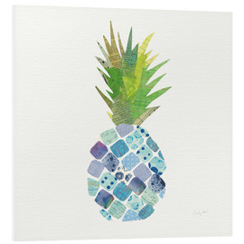 Stampa su PVC  Tropical Pineapple II - Courtney Prahl