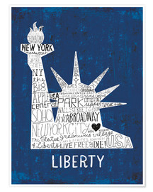 Poster Premium  New York City II - Michael Mullan